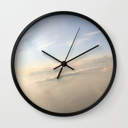 floating on the sky Wall Clock