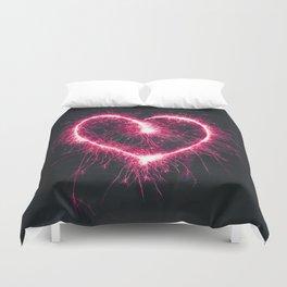 Firework Heart (Color) Duvet Cover