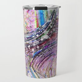 RAINBOW IN A BLENDER ABSRACT Travel Mug