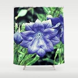 Purple Balloon Flower Floral Art A105 Shower Curtain
