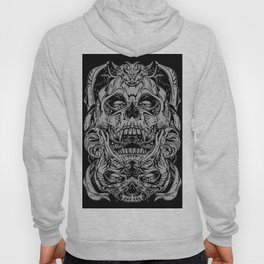 2 FACES SKULL Hoody