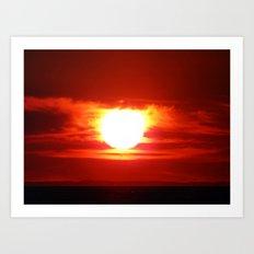 Sunset for Lovers Art Print
