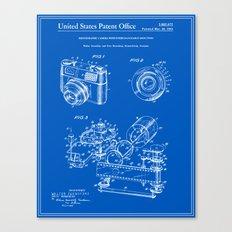 Camera Patent 1963 - Blueprint Canvas Print