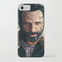 rick grimes iPhone & iPod Cases featuring The Walking Dead - Rick Grimes by p1xer