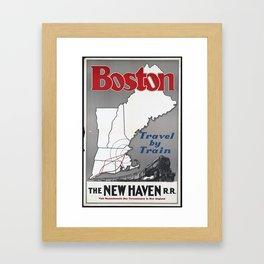 Boston The New Haven Framed Art Print