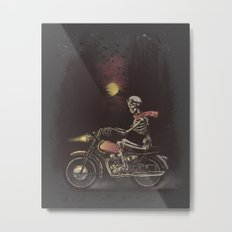 Death Rides in the Night Metal Print
