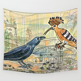 The Crow and the Hoopoe Wall Tapestry