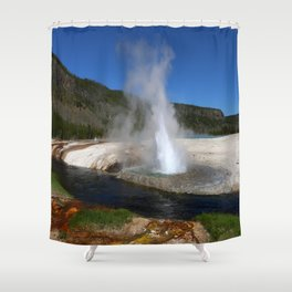 Thermal And Geyser Field Yellowstone NP Shower Curtain