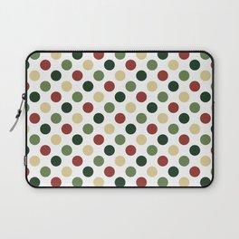 Polka dots - christmas colors Laptop Sleeve