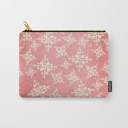 Red and Gold Snowflakes 1 Carry-All Pouch