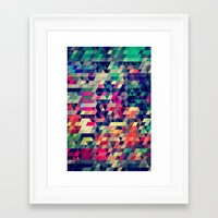 wallpaper Framed Art Prints featuring Atym by Spires
