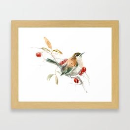 Carolina Warbler Framed Art Print