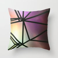 one line Throw Pillows featuring Line One by Jillian VanZytveld