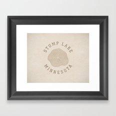 Stump Lake Framed Art Print