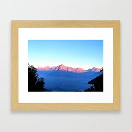 Alps Without Winters Dust Framed Art Print