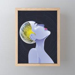 Cyborg electronic female Framed Mini Art Print