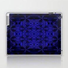 Deep Blue Delicate Flowers Laptop & iPad Skin