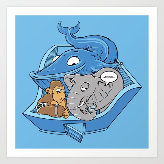 The Blue Whale in the Room Art Print