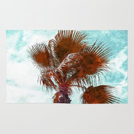 Orange marbled Palm Tree Rug