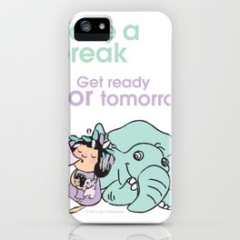Lala's Adventure - A Smile is a curve that sets everything straight. iPhone Case