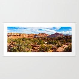 Capitol Reef Panorama Art Print