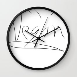 Vegan Wall Clock