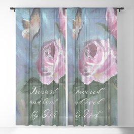 Treasured and Loved by God Sheer Curtain