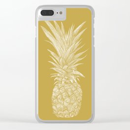 Pineapple : La Moutarde Clear iPhone Case