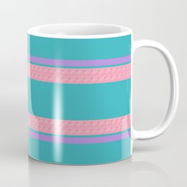 Peach Green Purple Stripe Summer Coffee Mug