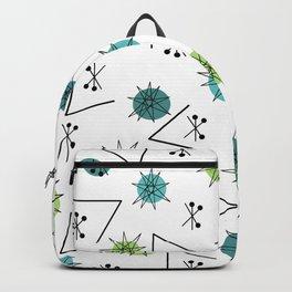 Mid Century Modern Sputnik Starburst Planets 9 Backpack