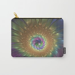 Abstract Flower Fractals Art Carry-All Pouch