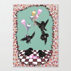 Crow Serie :: Eye Balloons (cria cuervos y te sacaran los ojos) Canvas Print