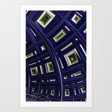 In The Frame Blue Art Print