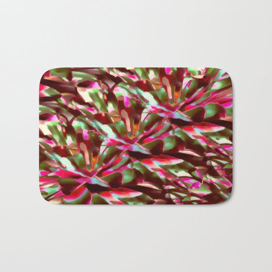 Bright And Cheerful Floral Garden Abstract Bath Mat