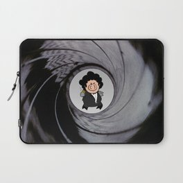 The pig with the golden gun Laptop Sleeve