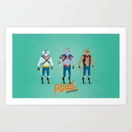 Biker Mice from Mars - Pixel Nostalgia Art Print
