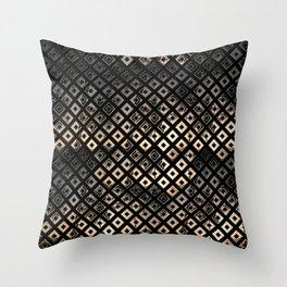 Golden Studs Throw Pillow
