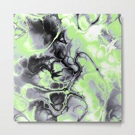 Agender Pride Spiky Abstract Fractal Swirls Metal Print