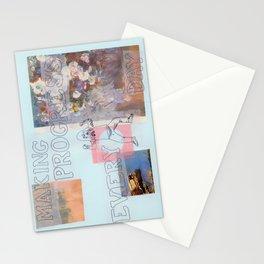 making progress everyday Stationery Cards