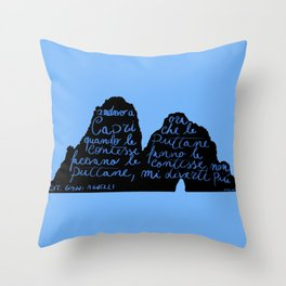 Capri non mi diverte più Throw Pillow