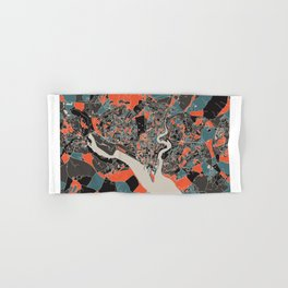 Southampton Multicoloured Print Hand & Bath Towel