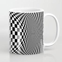 Optical Illusion Checkers Chequeres  Coffee Mug