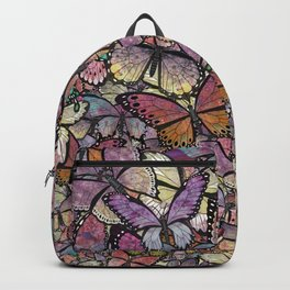 butterflies aflutter rosy pastels version Backpack