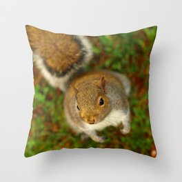 Squirrel In The Forest... Throw Pillow