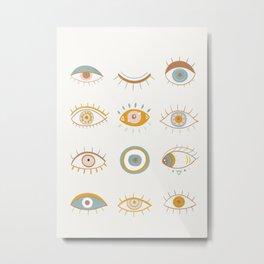Evil Eyes I Metal Print