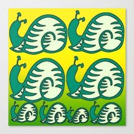Schneckenmuster. Canvas Print