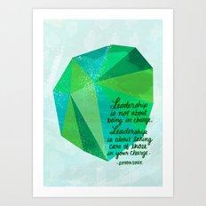 Leadership Gem Art Print