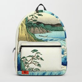The Great Wave. The Sea At Satta Backpack