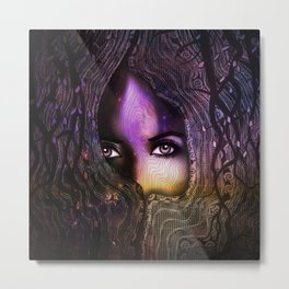 The Seer In The Tree Metal Print