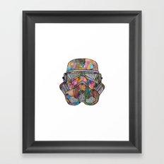 Stormtrooper Galaxy Framed Art Print